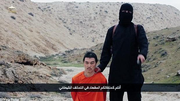 Vídeo que mostra a decapitação do refém japonês Kenji Goto. Crédito Reprodução