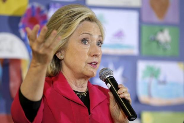 Hillary Clinton durante campanha em 15 de junho. Brian Snyder/Reuters