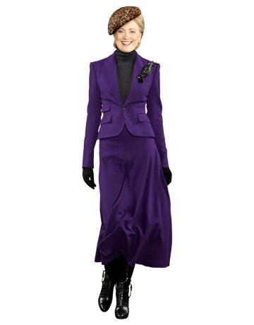 """Hillary Clinton em vestido de Ralph Lauren. Montagem da """"Harper's Bazaar"""". Crédito Reprodução"""