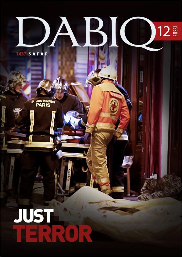 """Capa da revista """"Dabiq"""", publicada pelo Estado Islâmico. Crédito Reprodução"""