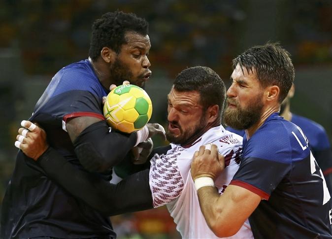 França e Qatar nas classificatórias de handebol masculino. Crédito Reuters