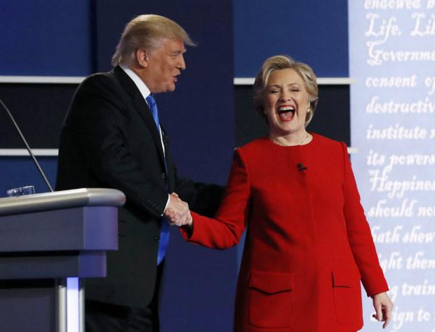 Debate entre Hillary Clinton e Donald Trump. Crédito Reuters