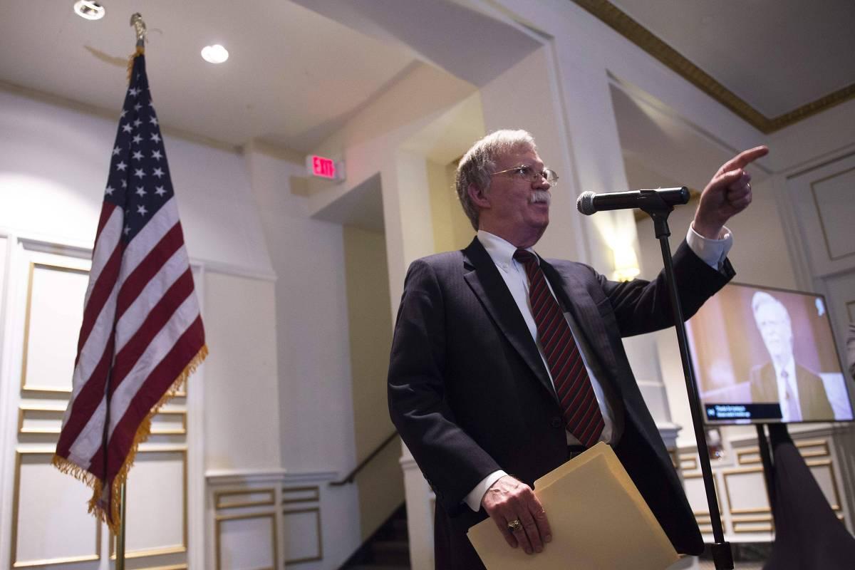 O conselheiro de segurança nacional da Casa Branca, John Bolton (Crédito: 10.set.2018 - AFP)