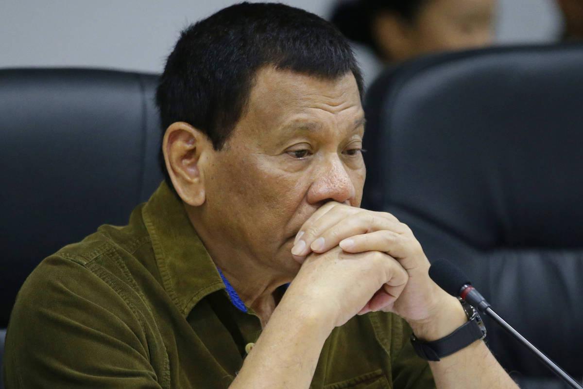 O presidente das Filipinas, Rodrigo Duterte, em evento em Manila